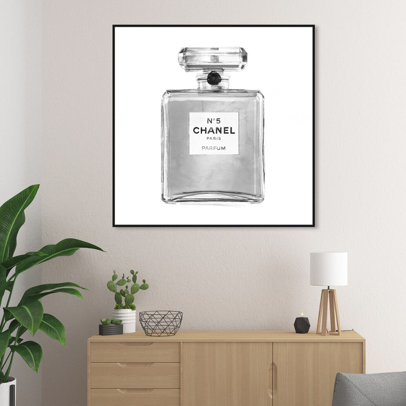 Hanging view of Silver Classic Perfume featuring fashion and glam and perfumes art.