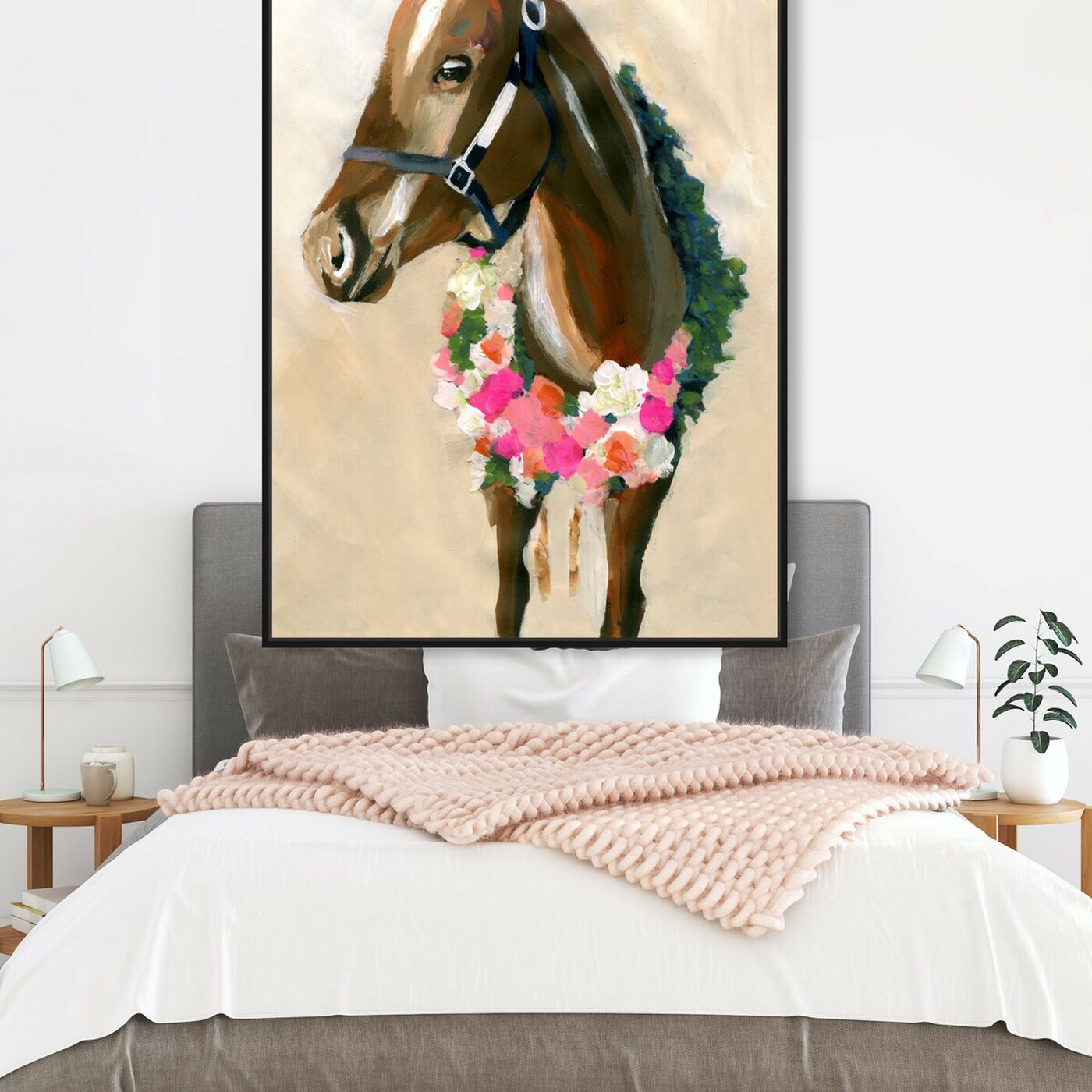 Hanging view of Champion By Carson Kressley featuring animals and farm animals art.