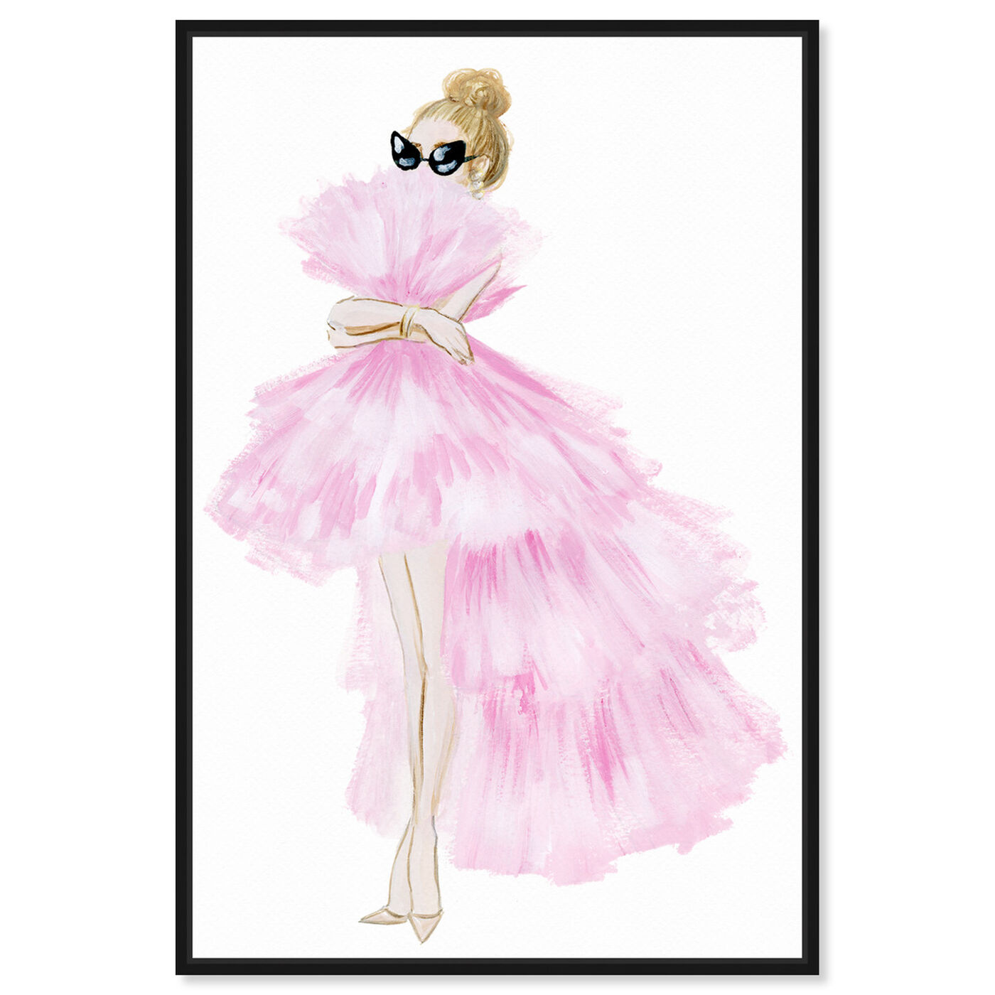 Front view of Pink Tutu Dress featuring fashion and glam and dress art.