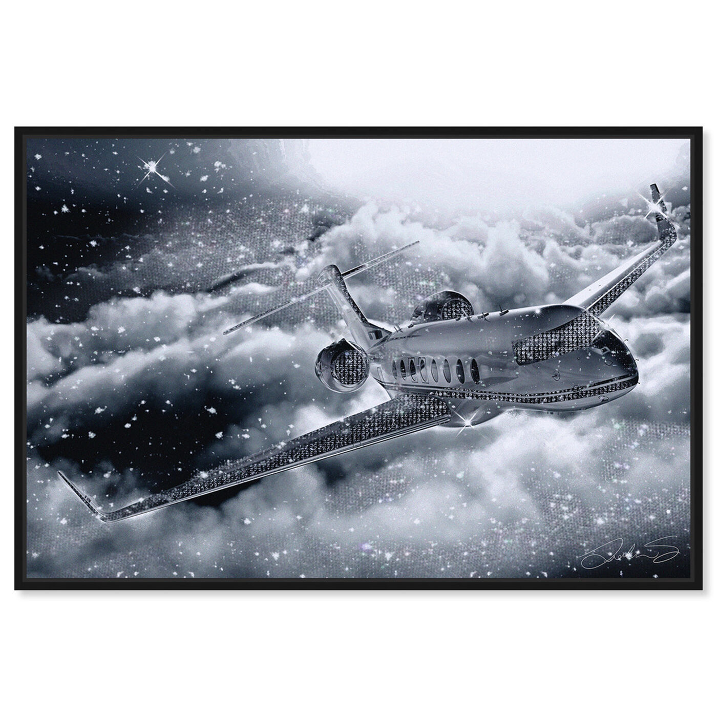 Front view of Nothing Like Flying Private featuring transportation and airplanes art.