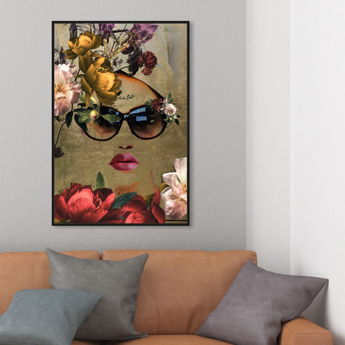 Hanging view of Mambo Queen featuring fashion and glam and lips art.