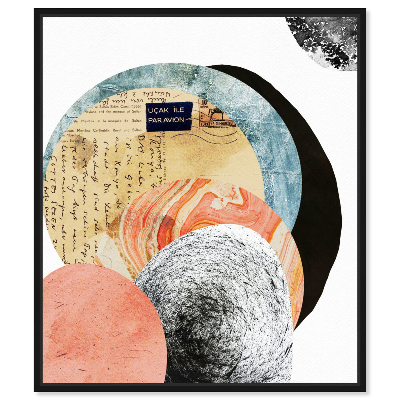 Front view of Letters to the Moon featuring abstract and textures art.