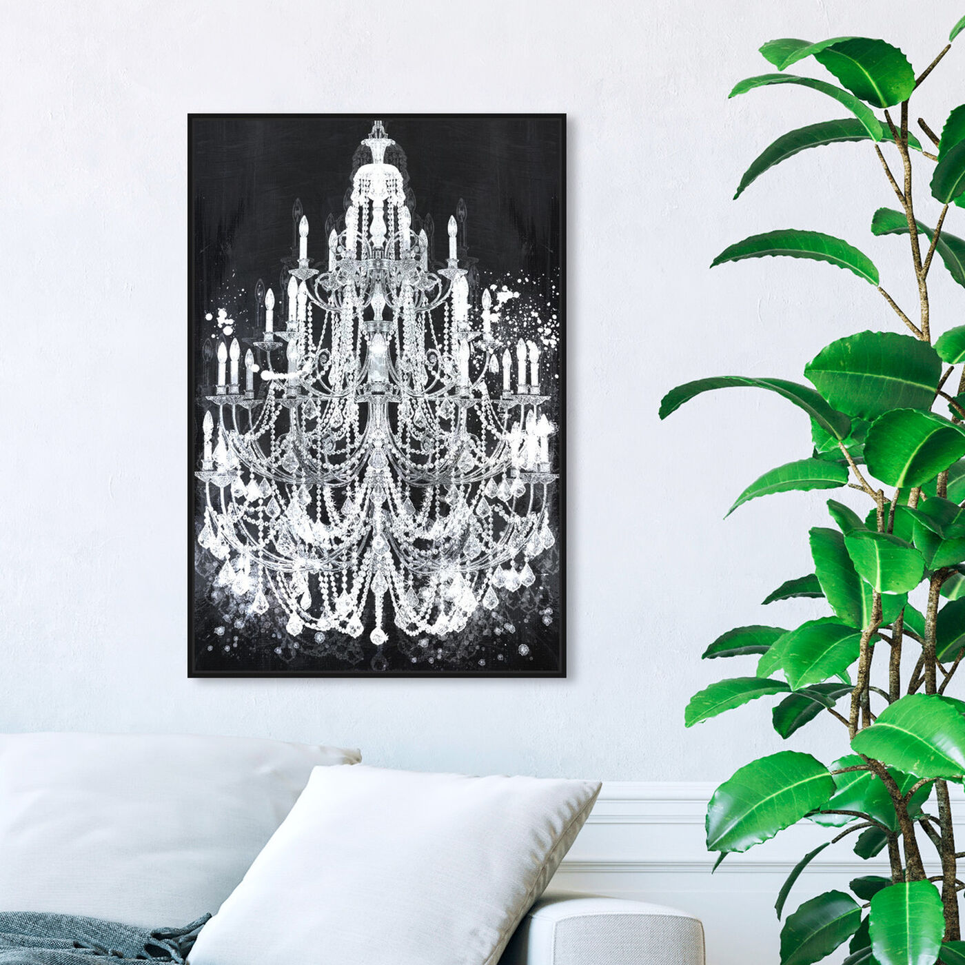Hanging view of Privee Diamonds featuring fashion and glam and chandeliers art.