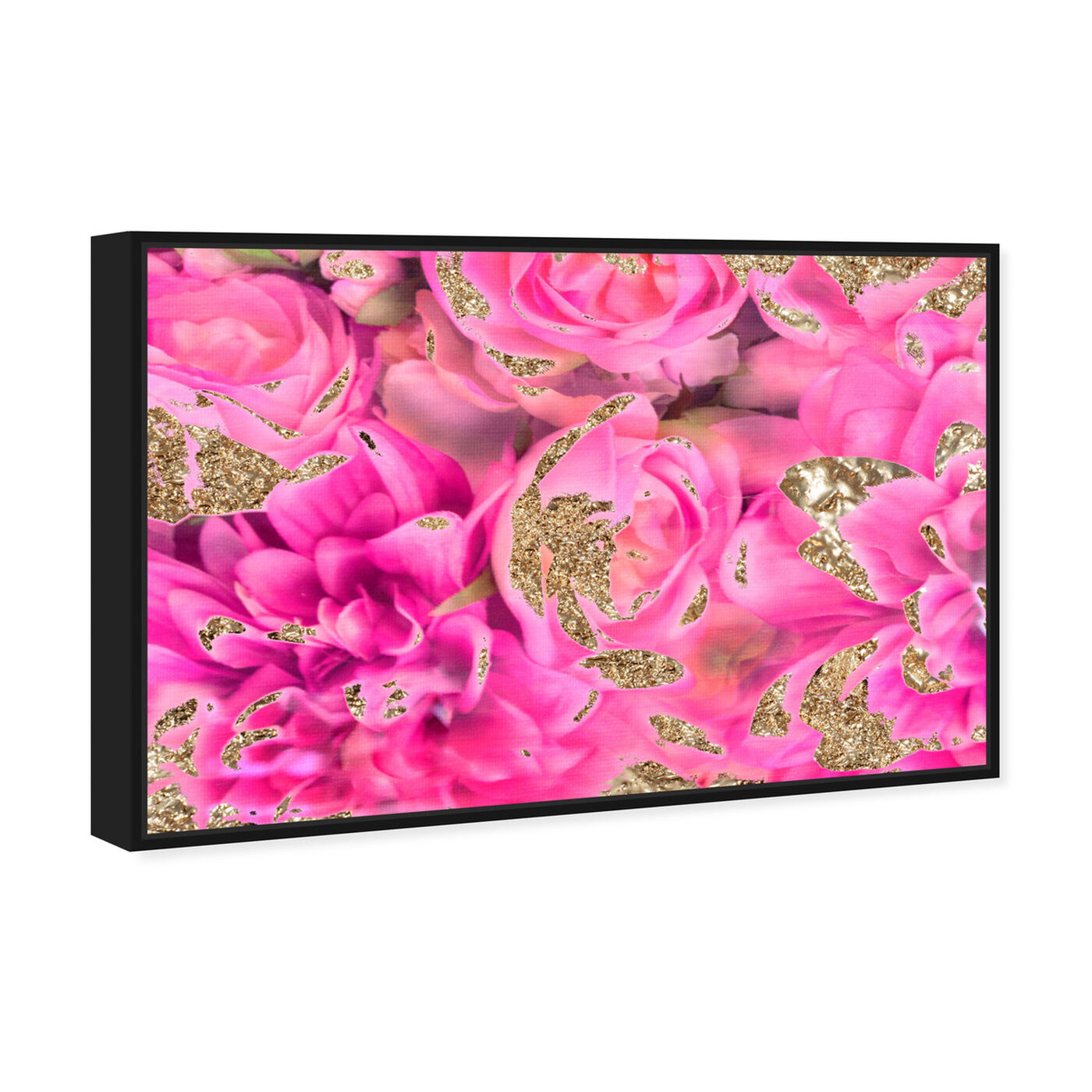 Angled view of Again In Love featuring abstract and flowers art.
