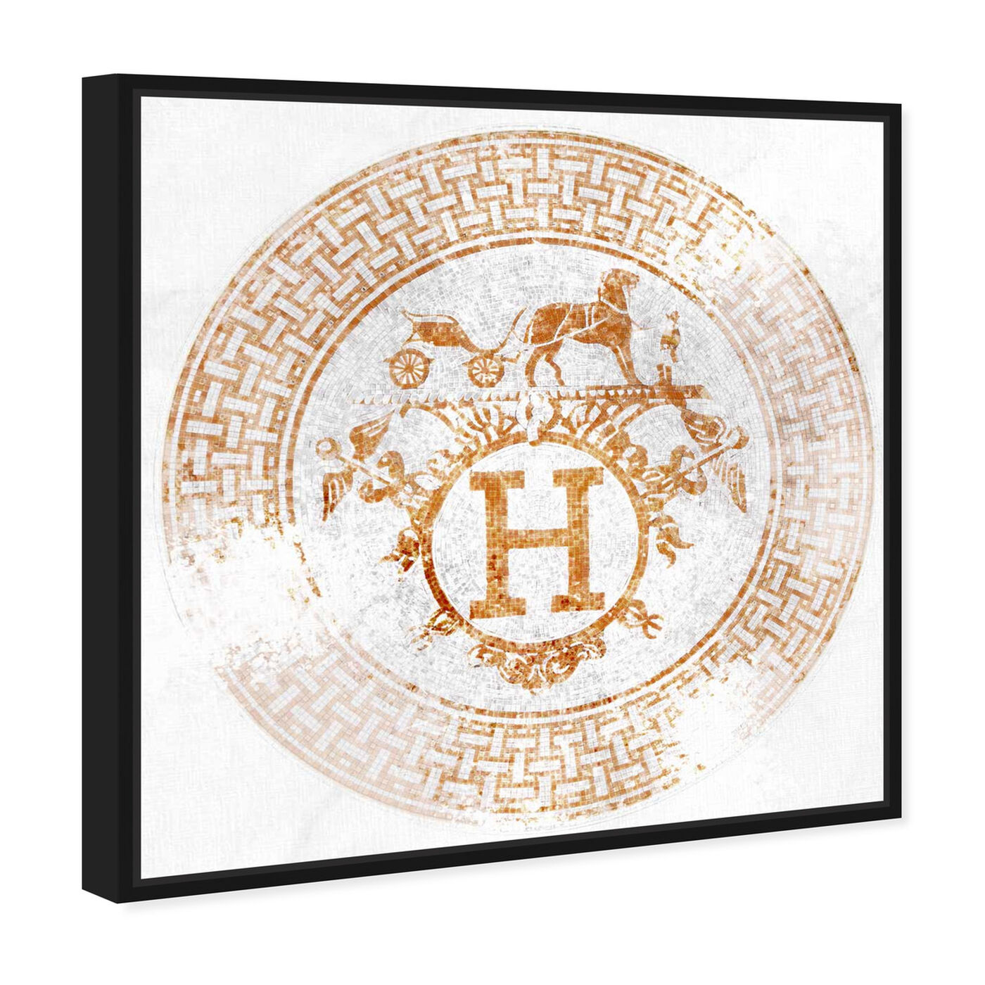 Angled view of H Art Orange featuring fashion and glam and lifestyle art.