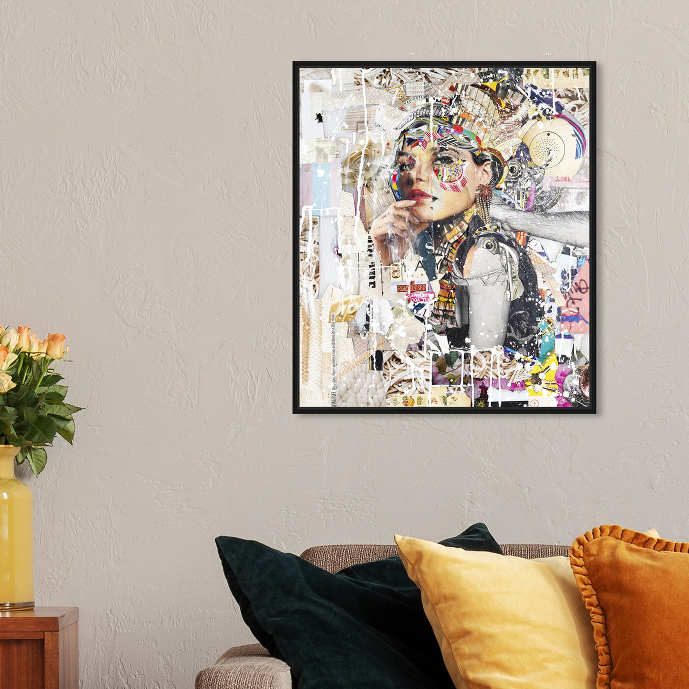 Hanging view of Katy-Hirschfeld - Pensive Beauty featuring fashion and glam and portraits art.