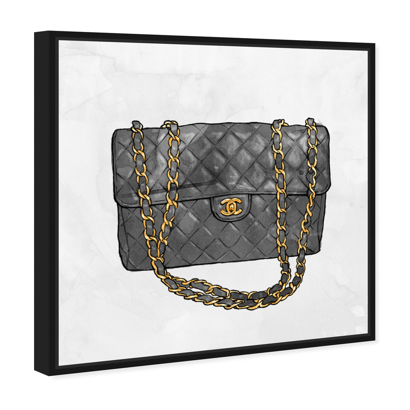 Angled view of Everything But My bag featuring fashion and glam and handbags art.