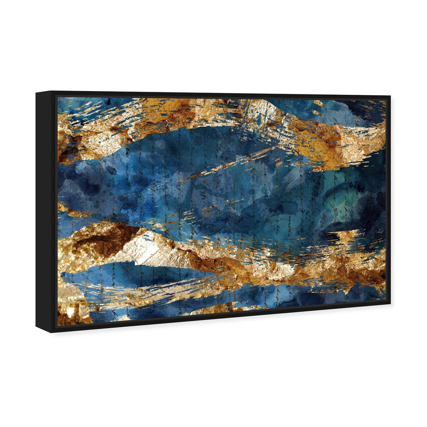 Angled view of Marea Alta - Signature Collection featuring abstract and watercolor art.