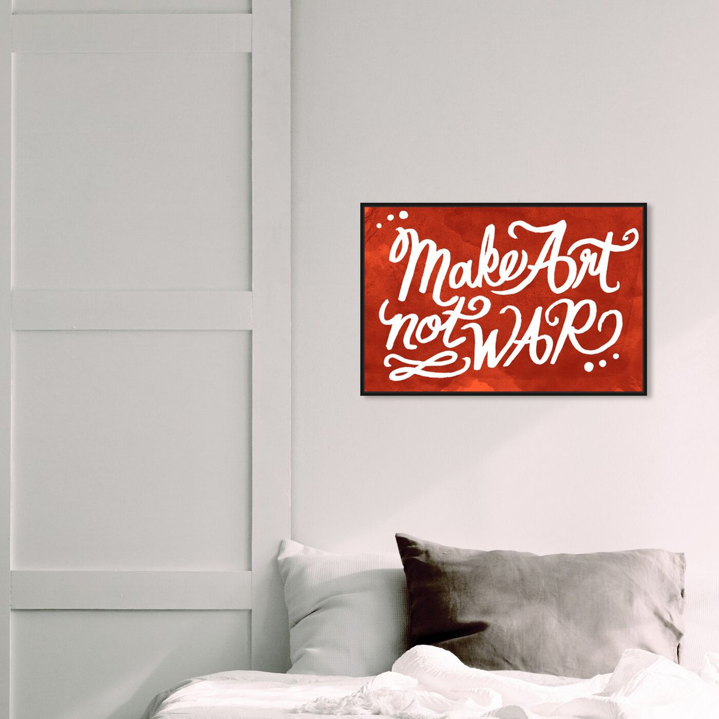 Hanging view of Make Art featuring typography and quotes and quotes and sayings art.
