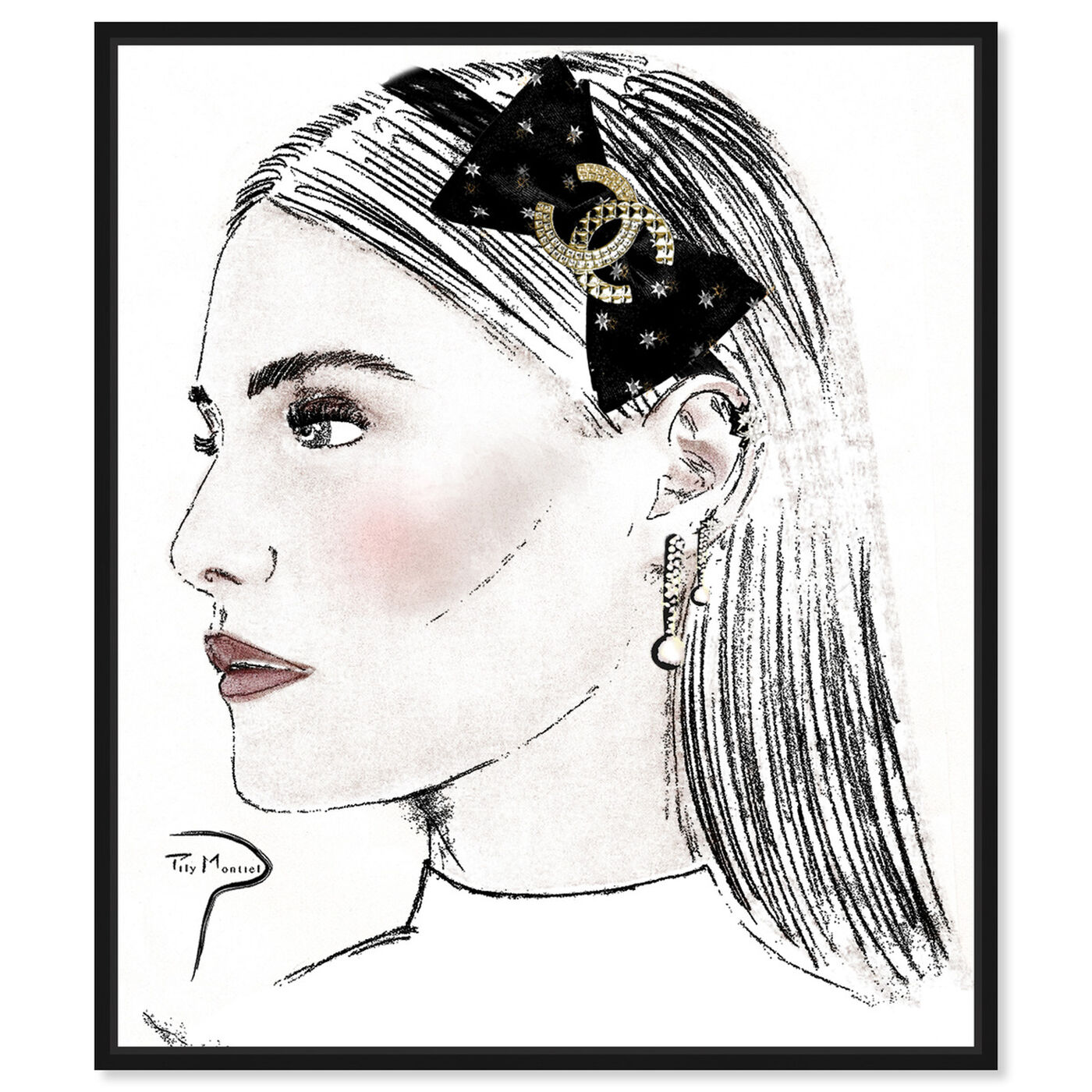 Front view of Pily Montiel - PROFILE GIRL PENCIL featuring fashion and glam and portraits art.