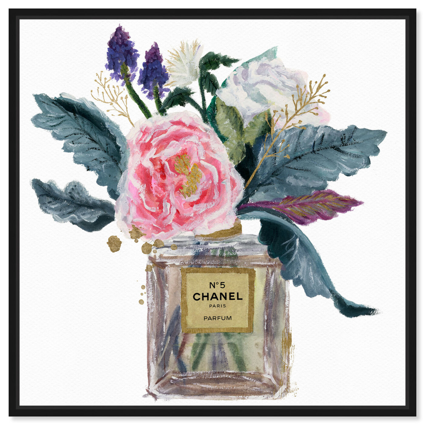 Front view of Eau de Peony featuring fashion and glam and perfumes art.
