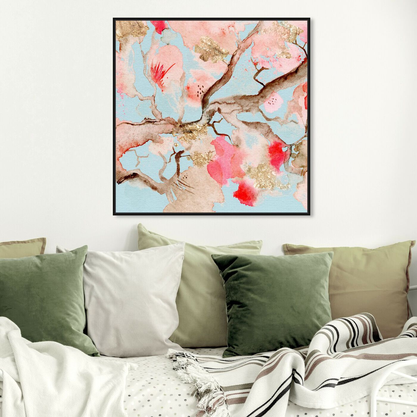 Hanging view of Under The Blossoms and Sky featuring floral and botanical and florals art.