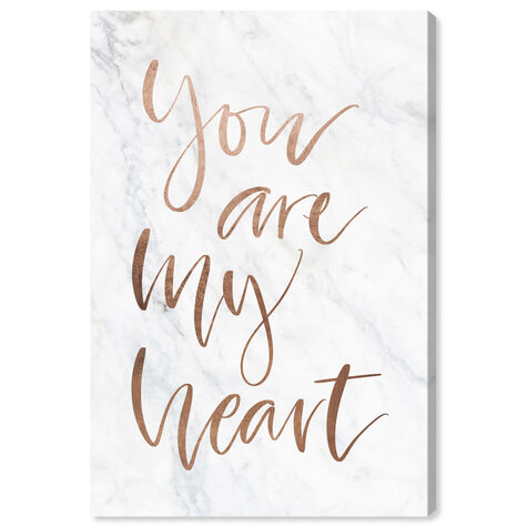 You Are My Heart Rose Gold