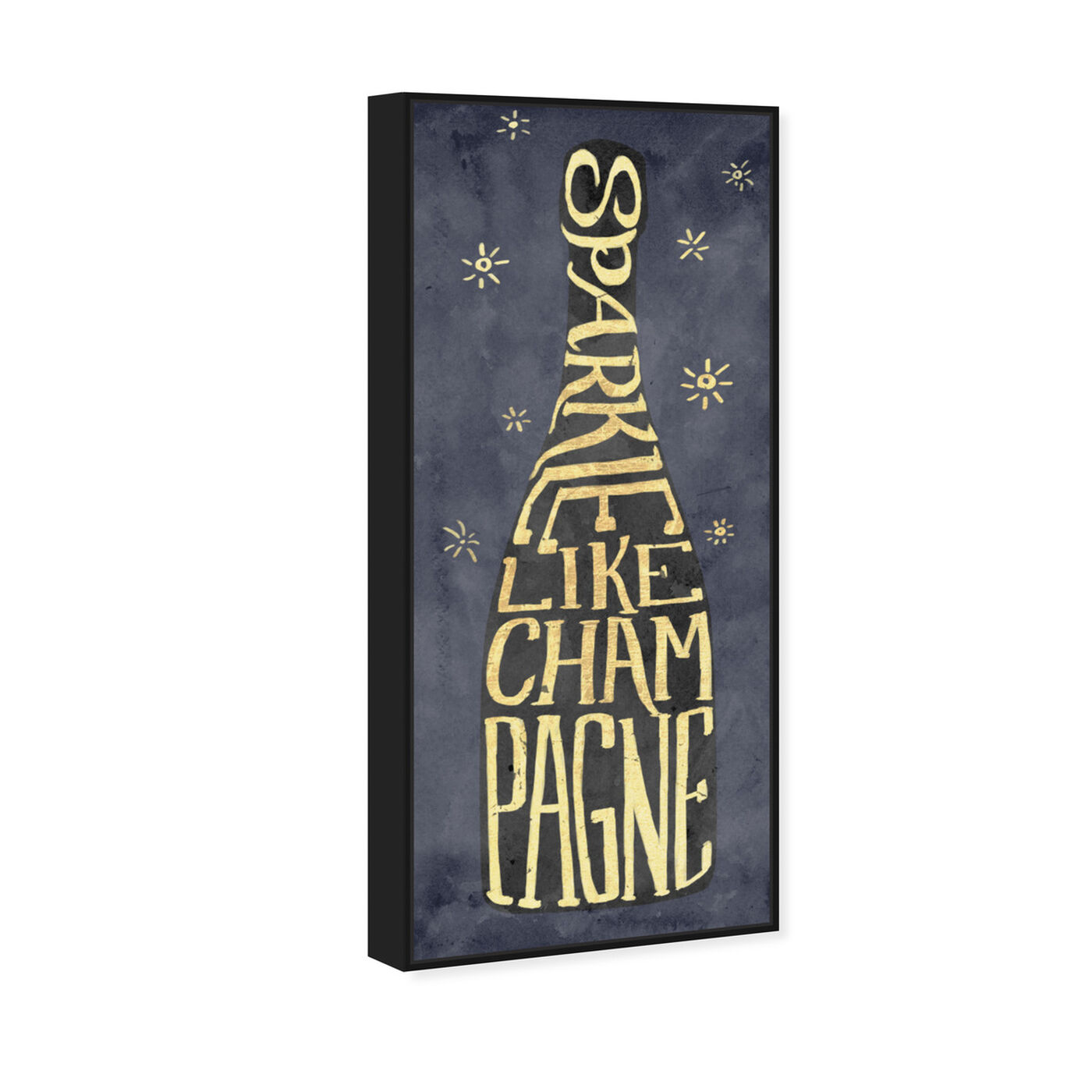 Angled view of Sparkle Like Champagne featuring drinks and spirits and champagne art.
