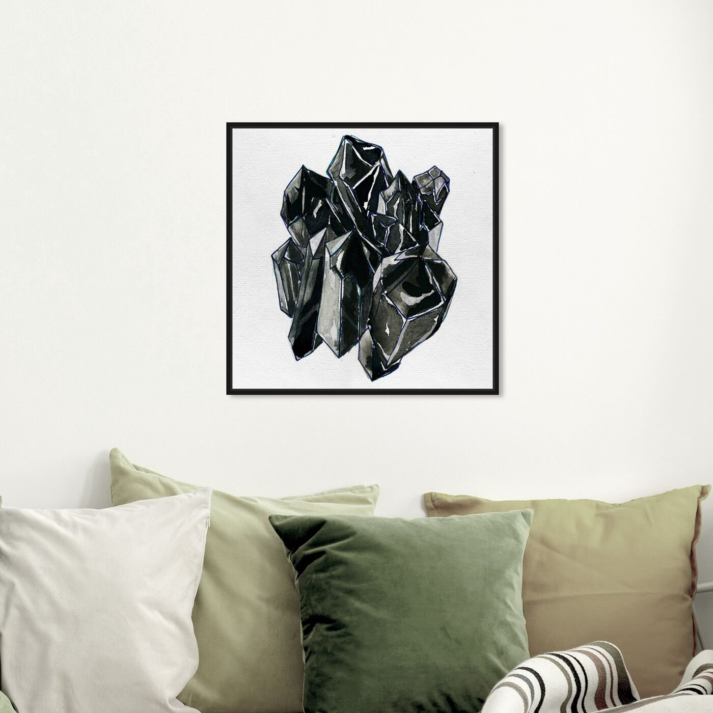 Hanging view of Precious Crystals II featuring abstract and crystals art.