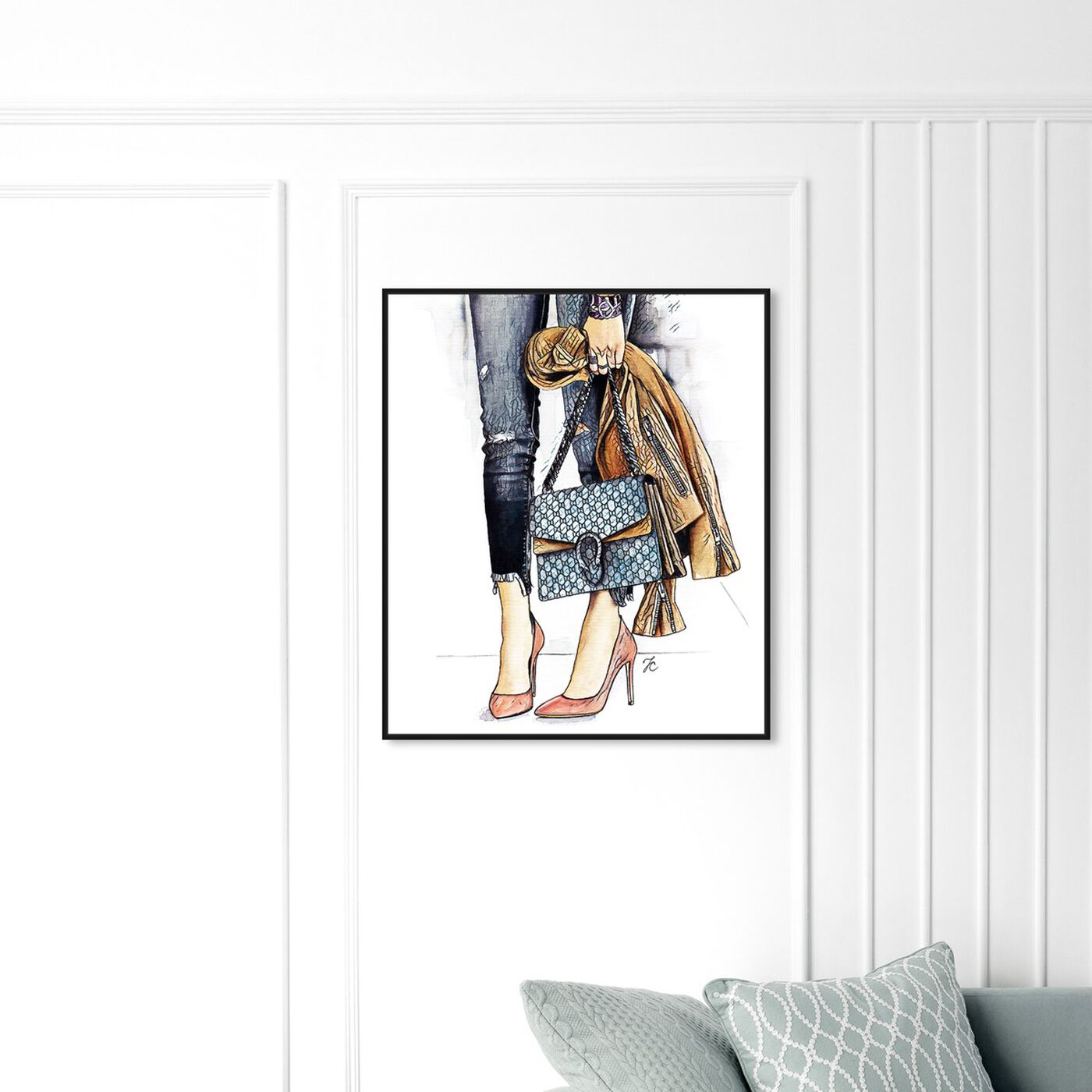 Hanging view of Doll Memories - Fashion Street Glam featuring fashion and glam and outfits art.