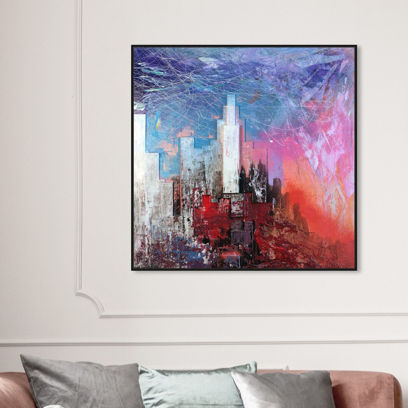 Hanging view of Sai - Urban Vissage 1IC1322 featuring cities and skylines and urban and cityscapes art.