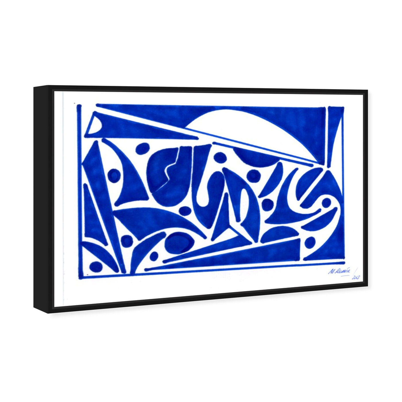 Angled view of Mediterranean Views featuring abstract and shapes art.