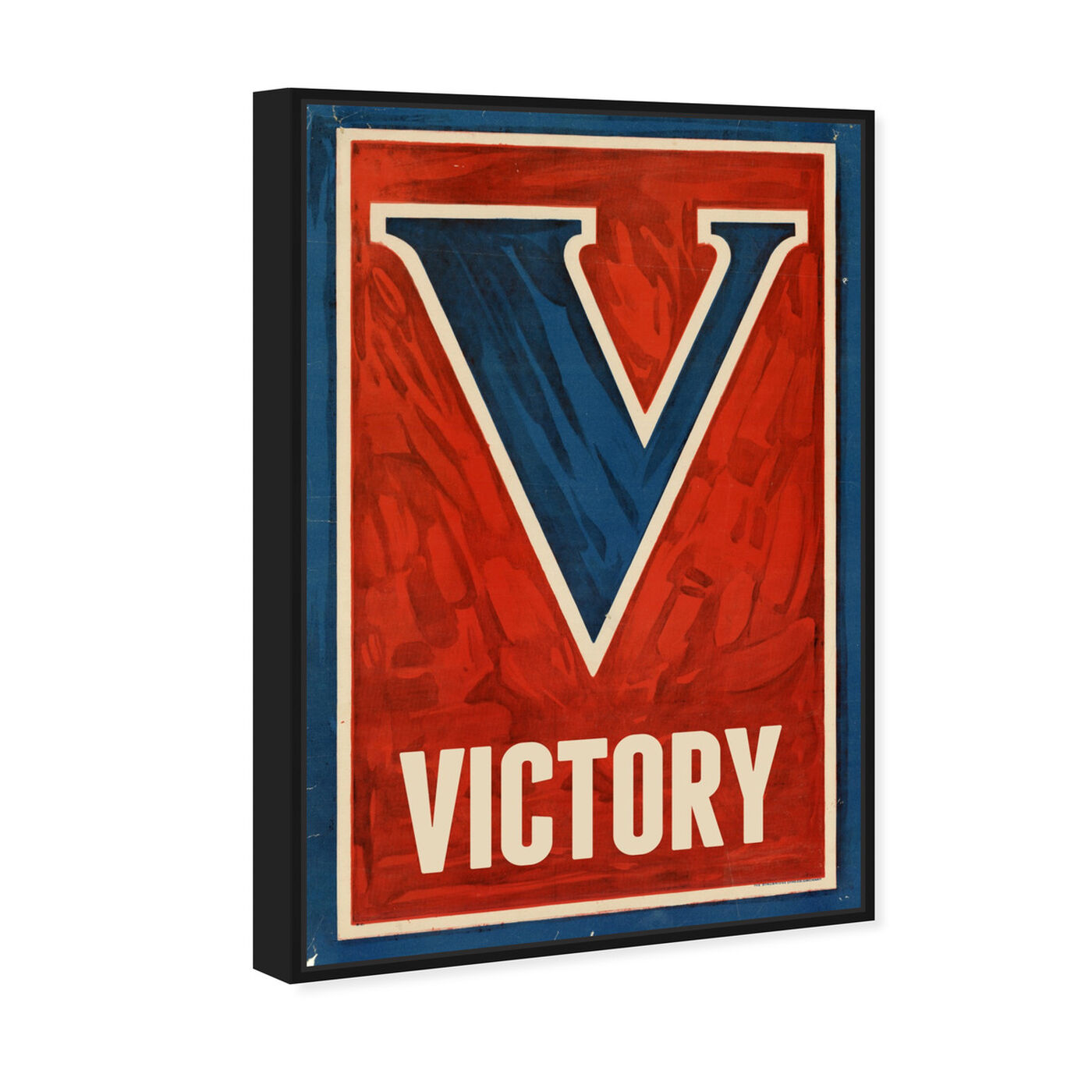 Angled view of Victory featuring typography and quotes and letters and calligraphy art.