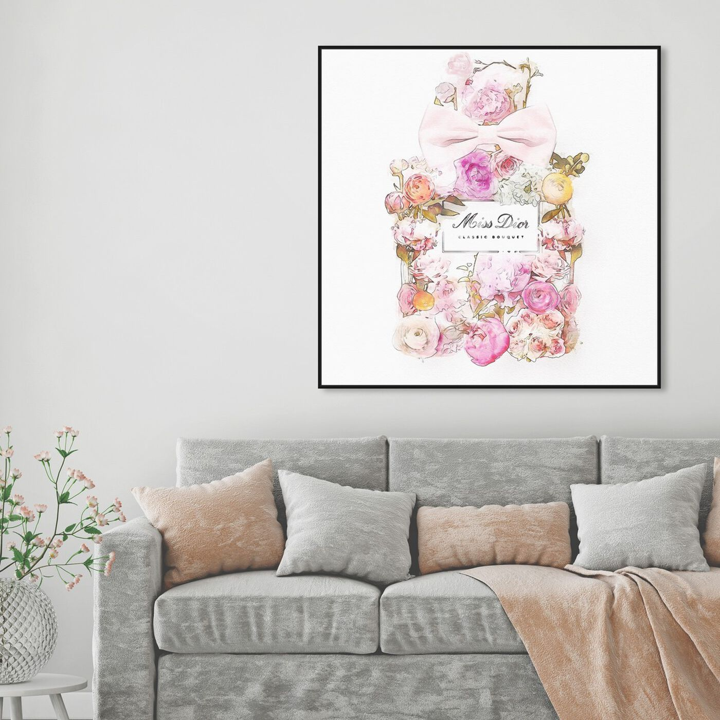 Hanging view of Beautiful Bouquet I featuring fashion and glam and perfumes art.