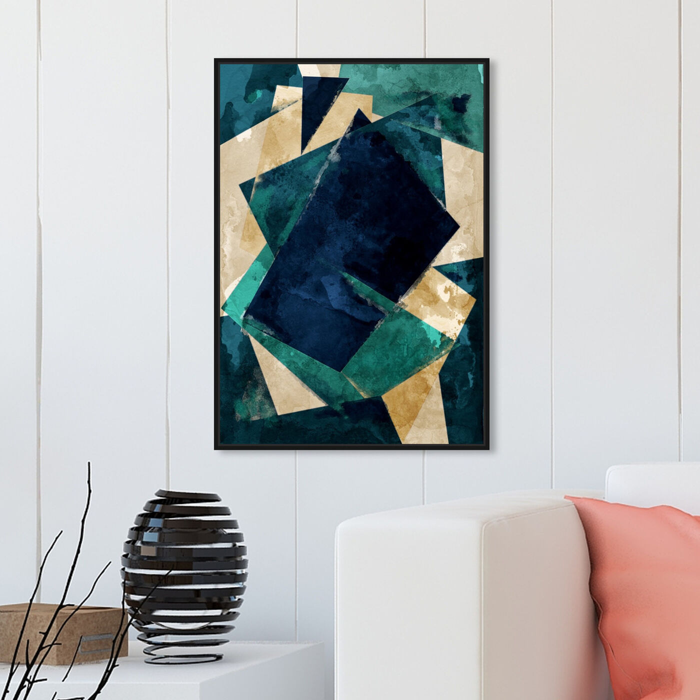 Hanging view of Abstracta Dos featuring abstract and geometric art.