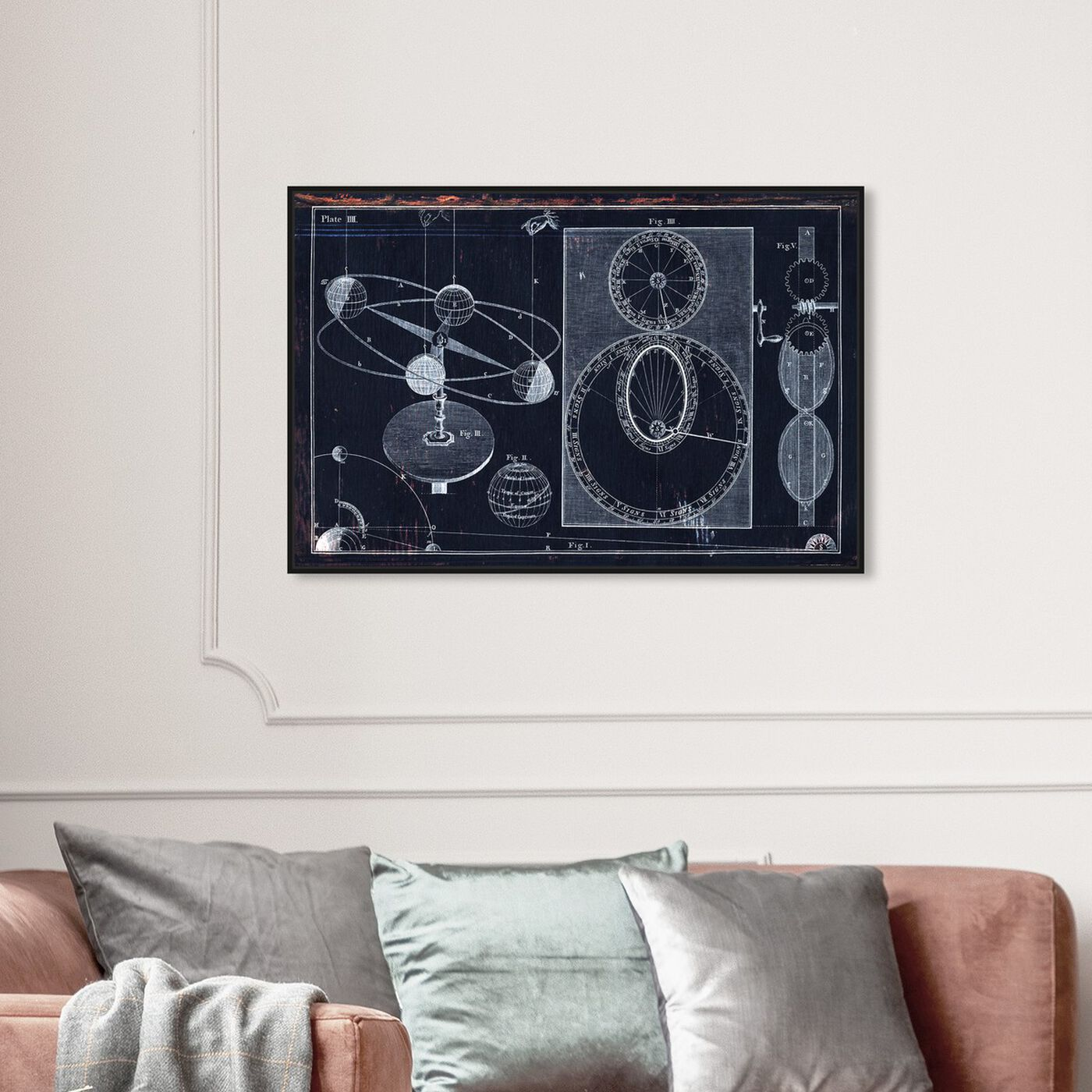 Hanging view of Visual Planetarium featuring astronomy and space and solar system art.