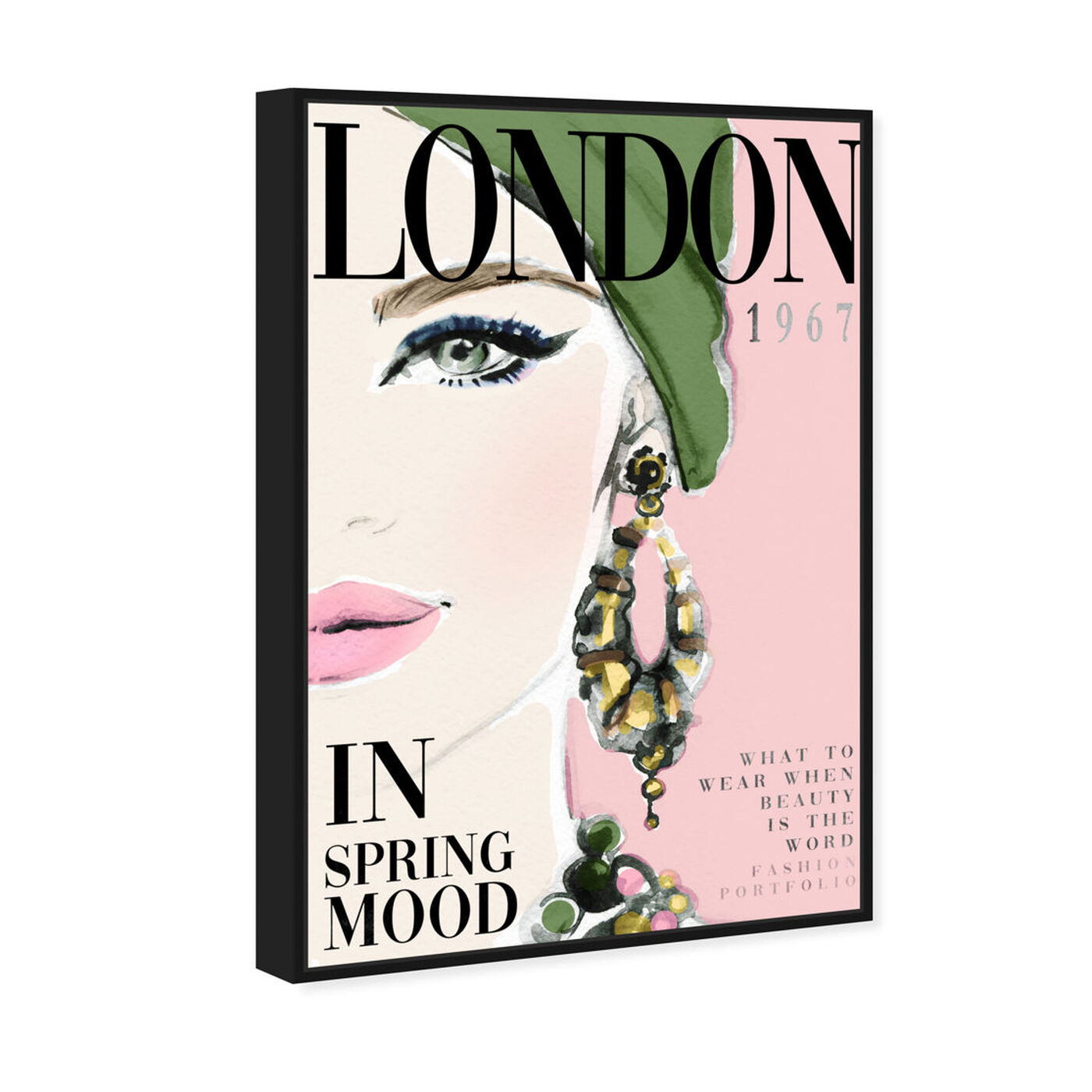Angled view of Cover London Watercolor featuring advertising and publications art.