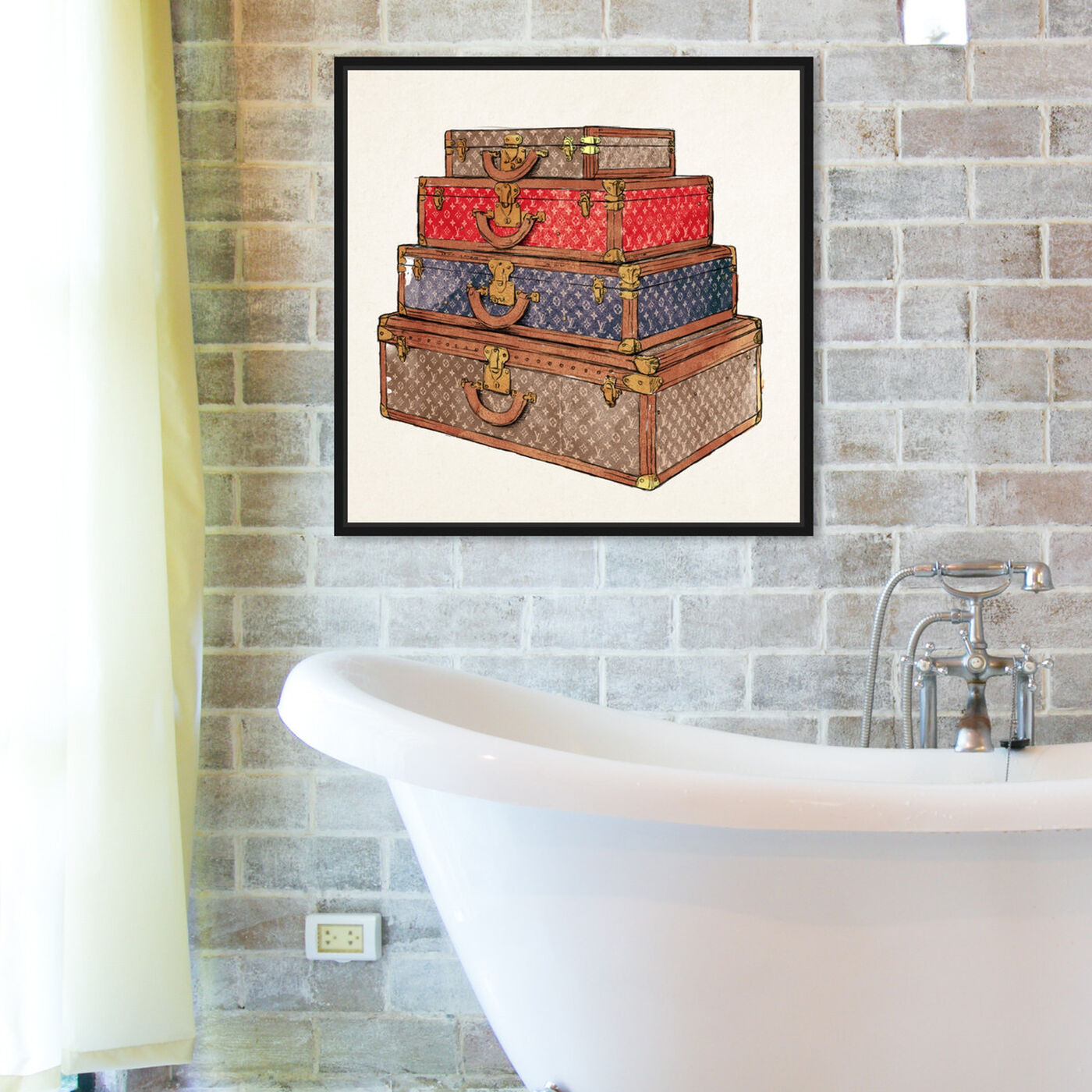 Hanging view of The Royal Luggage featuring fashion and glam and travel essentials art.