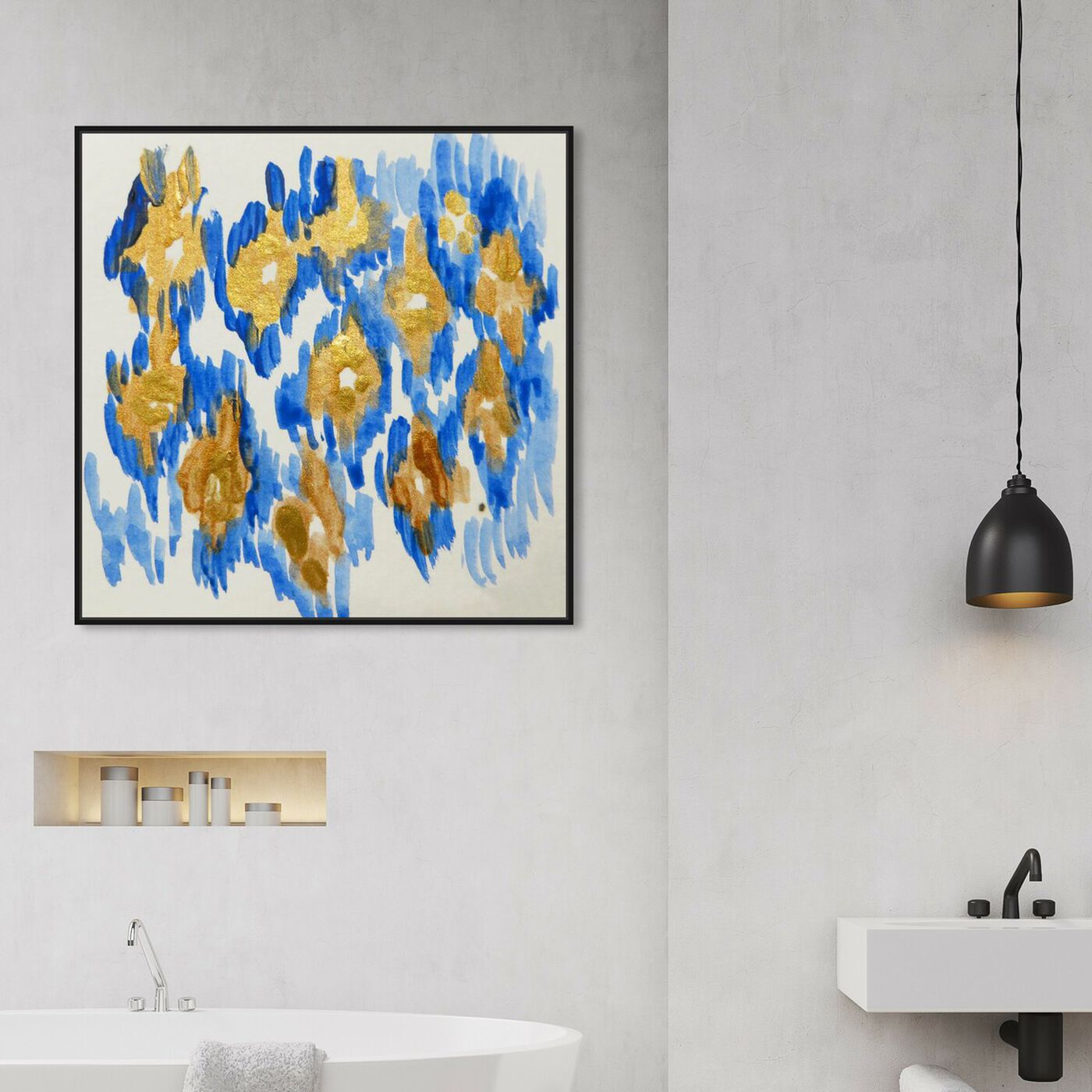 Hanging view of Carmela Azul - Signature Collection featuring abstract and paint art.