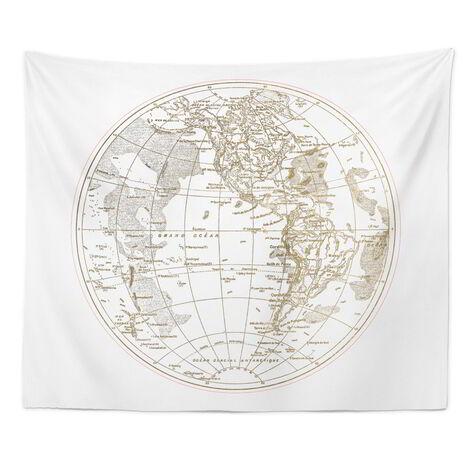 Ocean Pacifique Round Tapestry Art