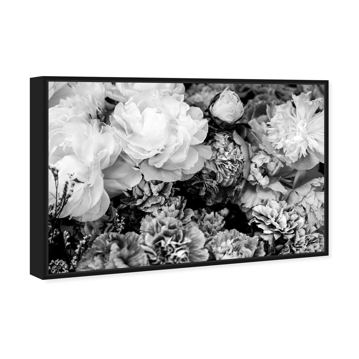 Angled view of Dark Flora Encore featuring floral and botanical and gardens art.