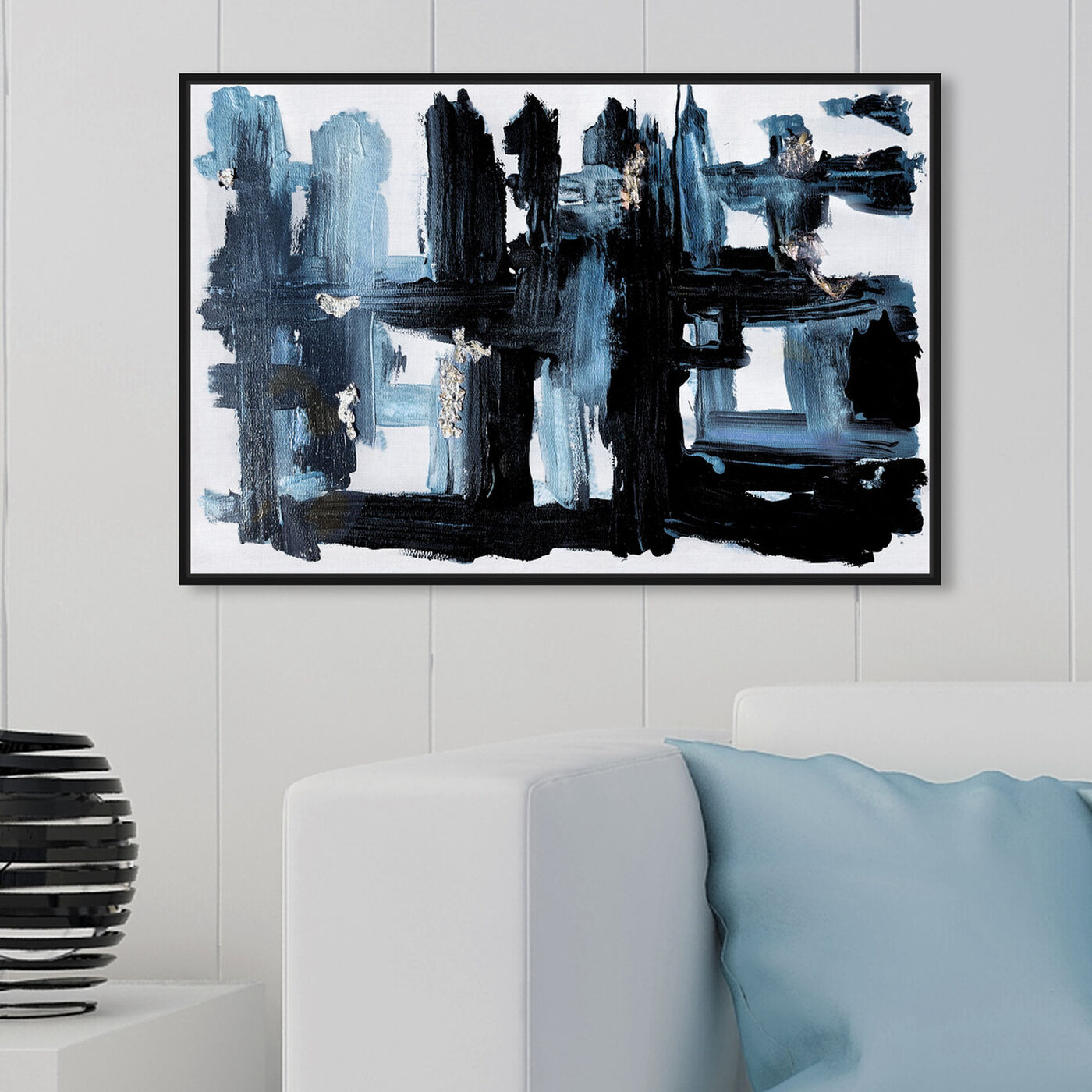 Hanging view of Limnprint™ featuring abstract and paint art.