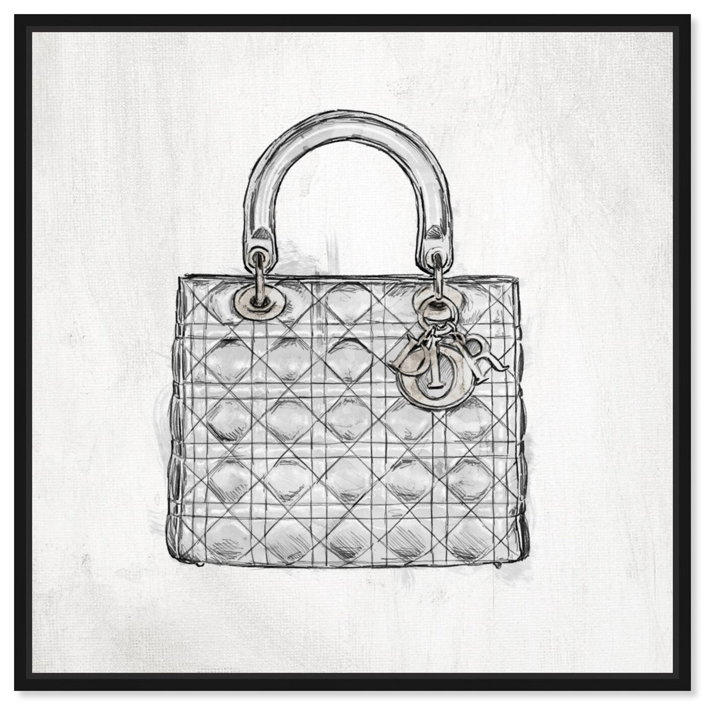 Front view of Christian's Essentials White featuring fashion and glam and handbags art.