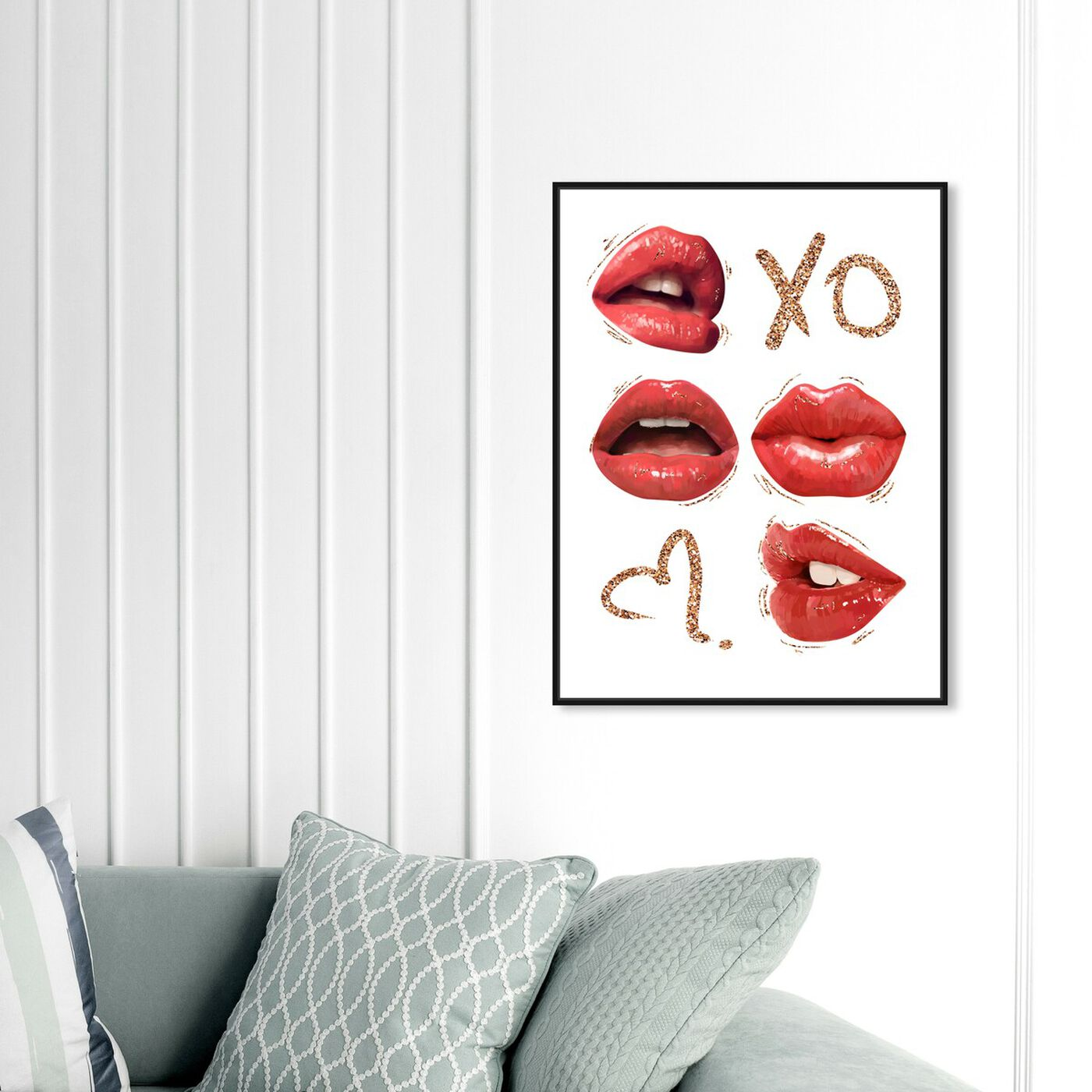 Hanging view of XO Lipgloss Kiss featuring fashion and glam and lips art.