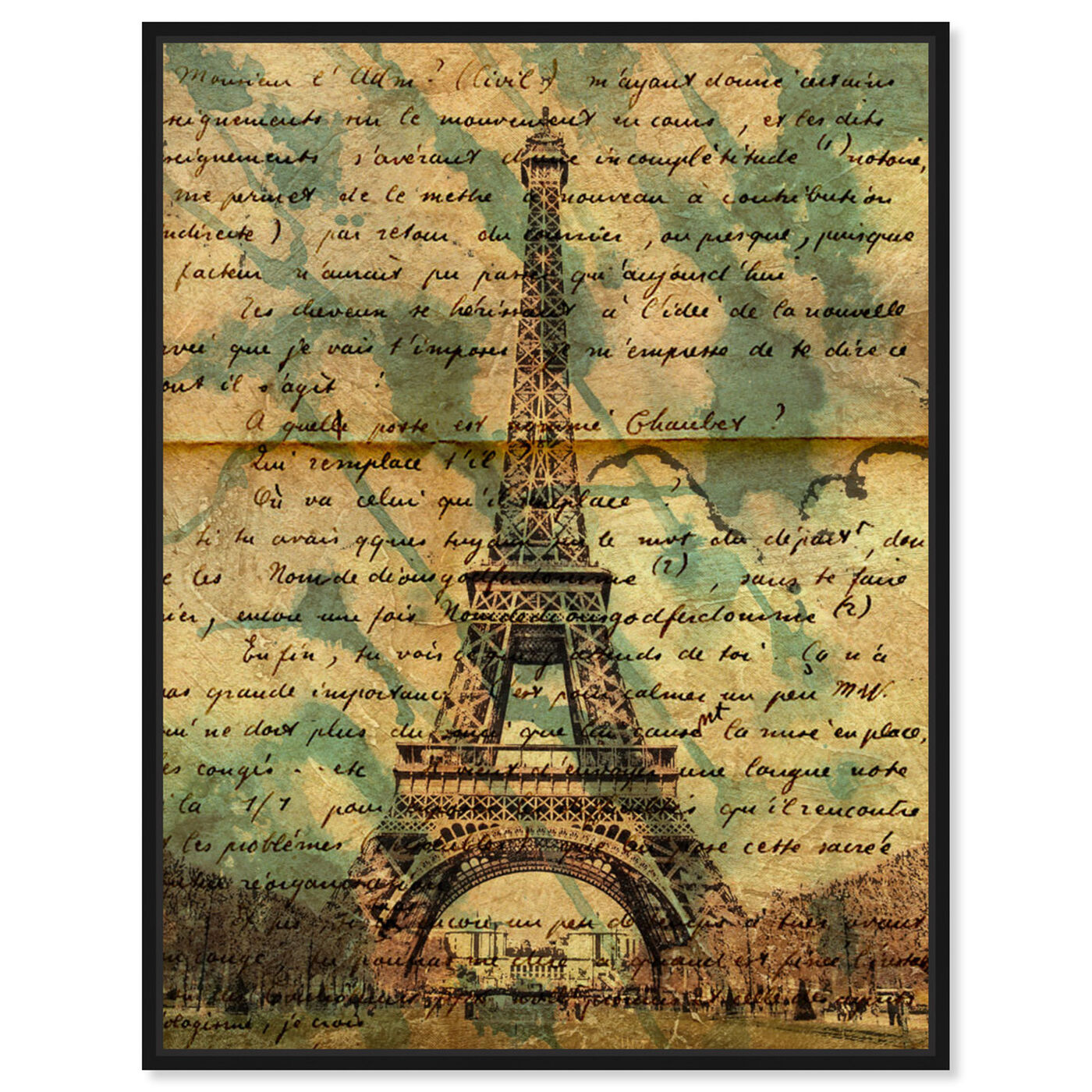 Front view of Eiffel Words featuring architecture and buildings and european buildings art.