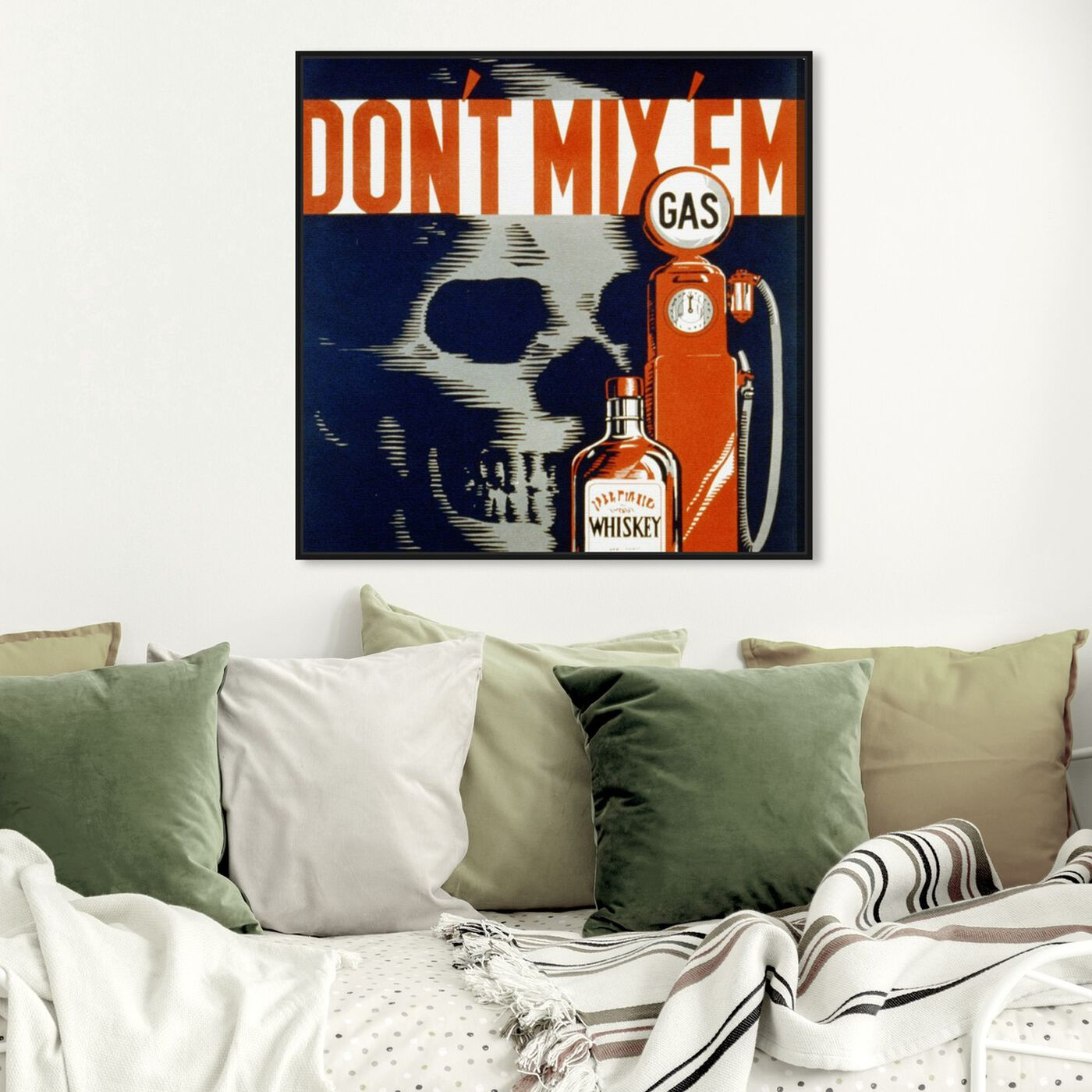 Hanging view of Don't Mix 'Em featuring drinks and spirits and liquor art.