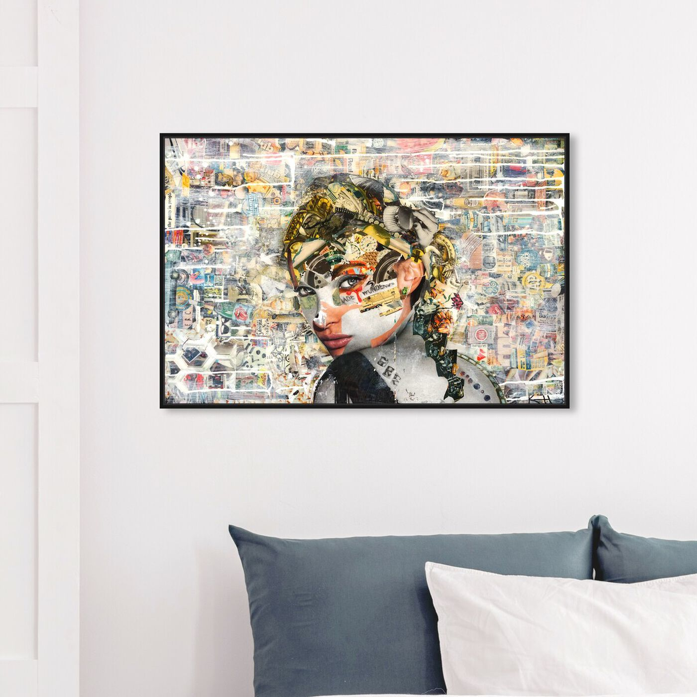 Hanging view of Katy Hirschfeld - Eyes For You featuring fashion and glam and portraits art.