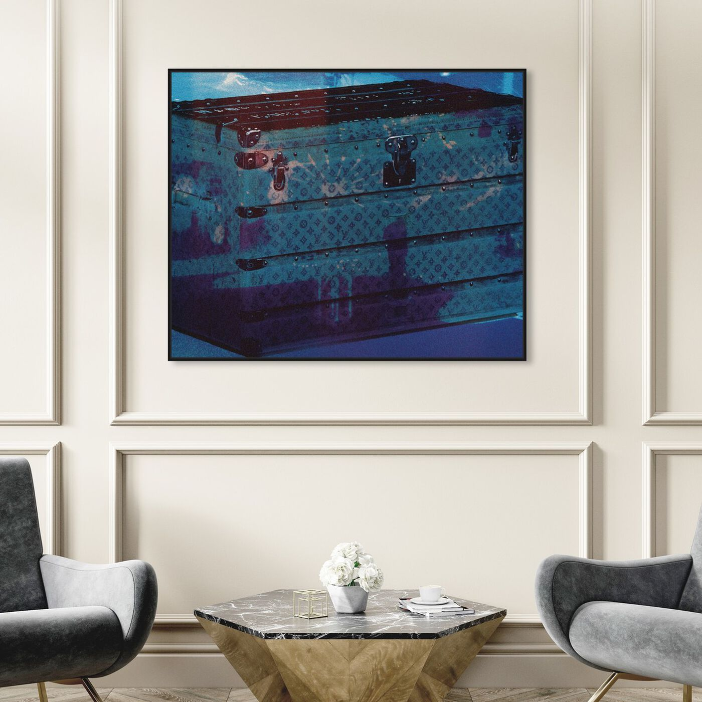 Hanging view of Voyage Into the Water featuring fashion and glam and travel essentials art.