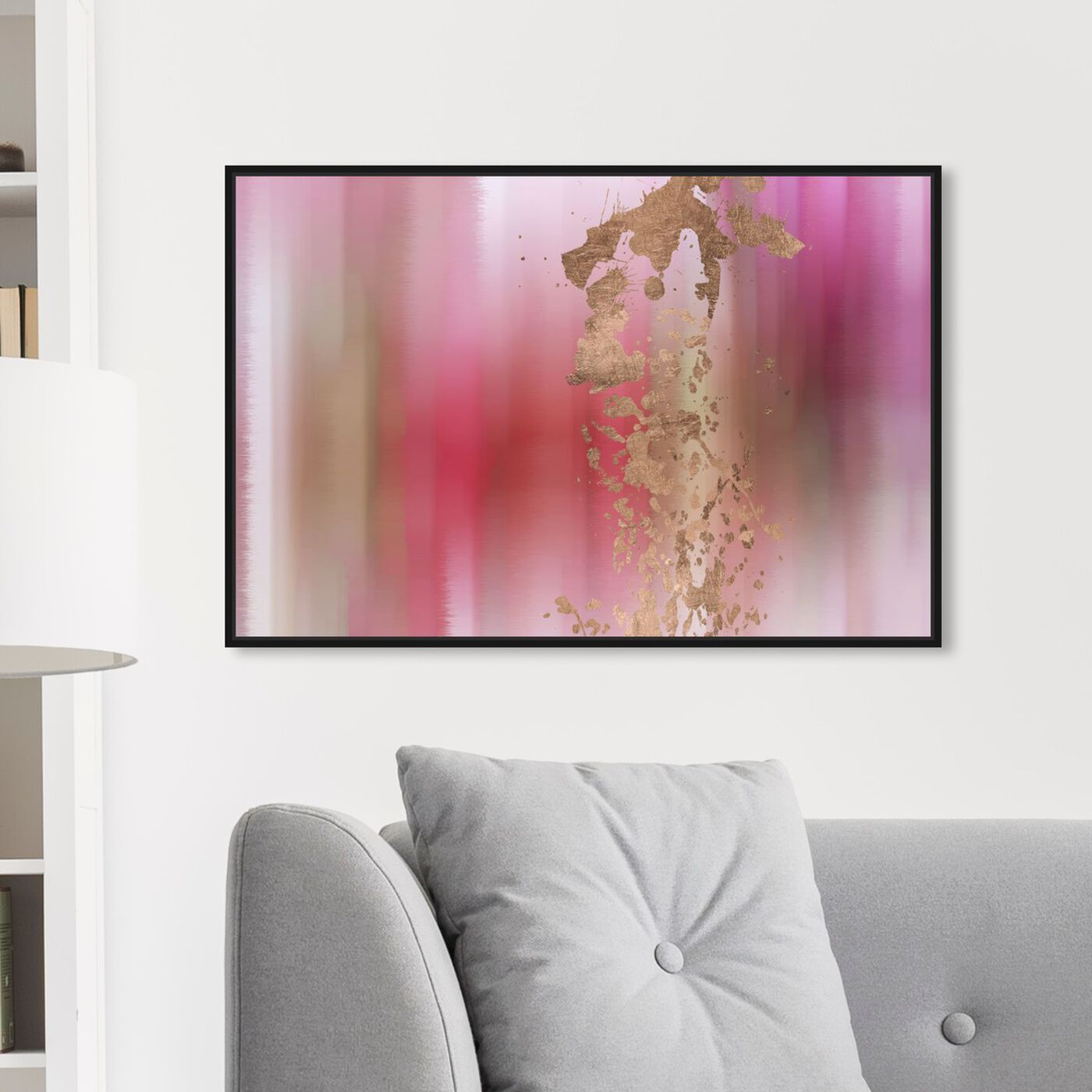 Hanging view of Campari II featuring abstract and paint art.