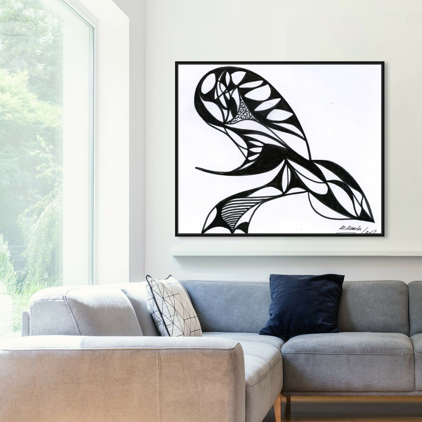 Hanging view of The Sting featuring abstract and shapes art.
