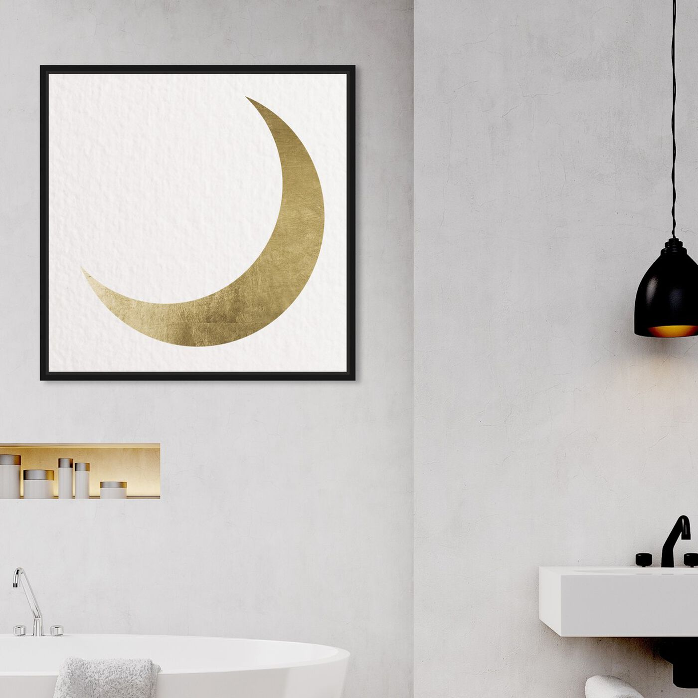 Hanging view of Moonlight Shadow featuring astronomy and space and moons art.