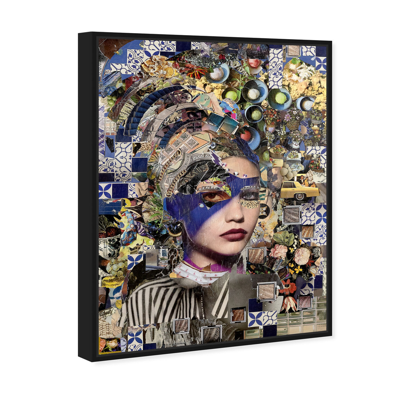 Angled view of Katy Hirschfeld - Beauty in Blue featuring fashion and glam and portraits art.