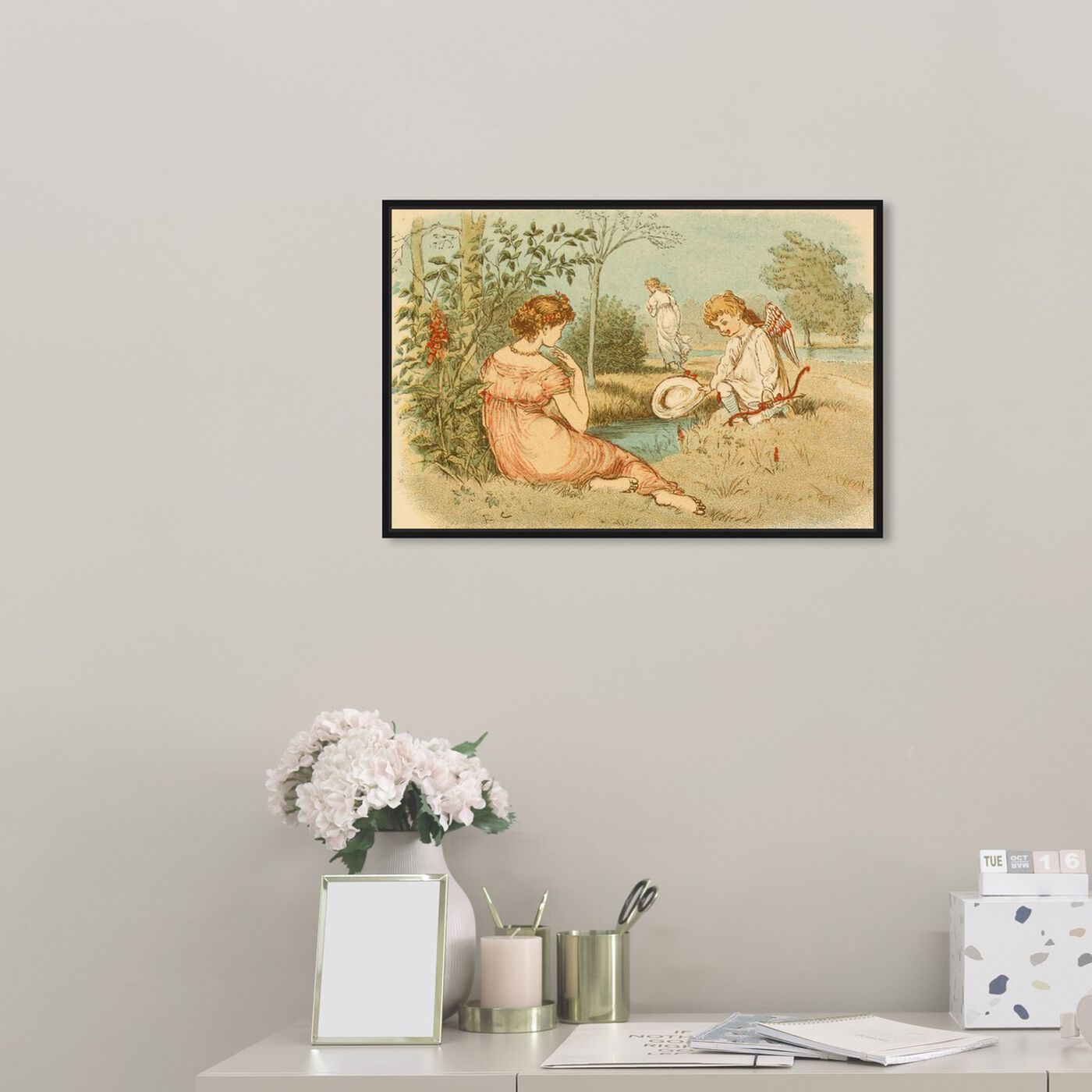 Hanging view of Cupid by the Pond featuring fantasy and sci-fi and fairy tales art.