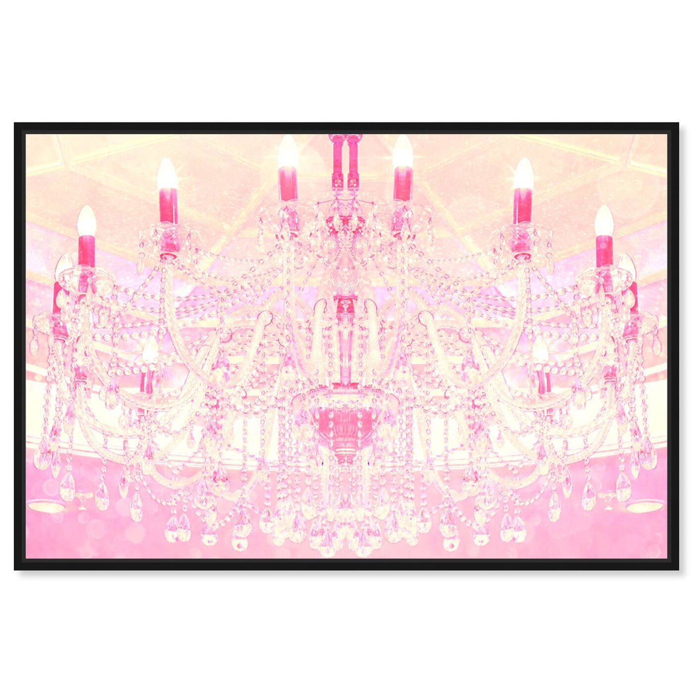 Front view of Strawberry Vanilla Lights  featuring fashion and glam and chandeliers art.