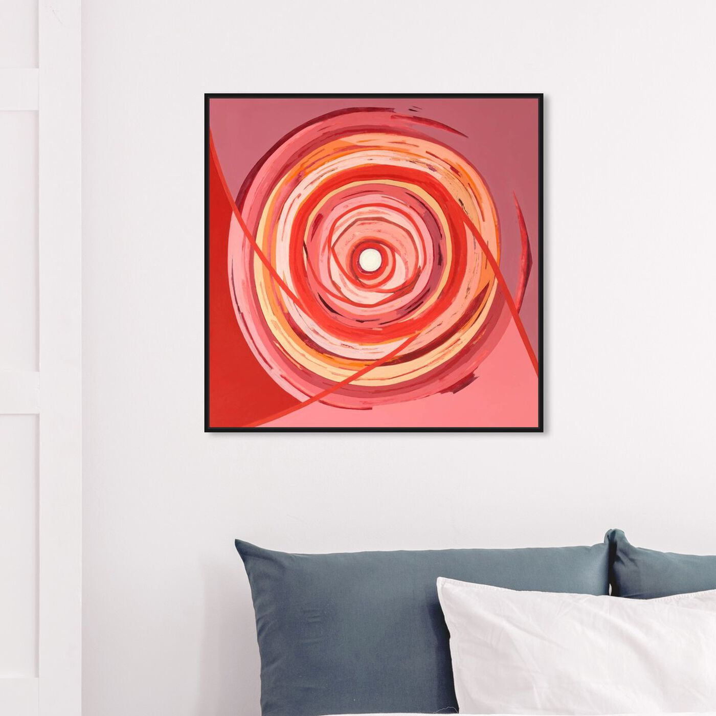 Hanging view of Sai - Pictis Spiralis Rouge 1NM1759 featuring abstract and geometric art.