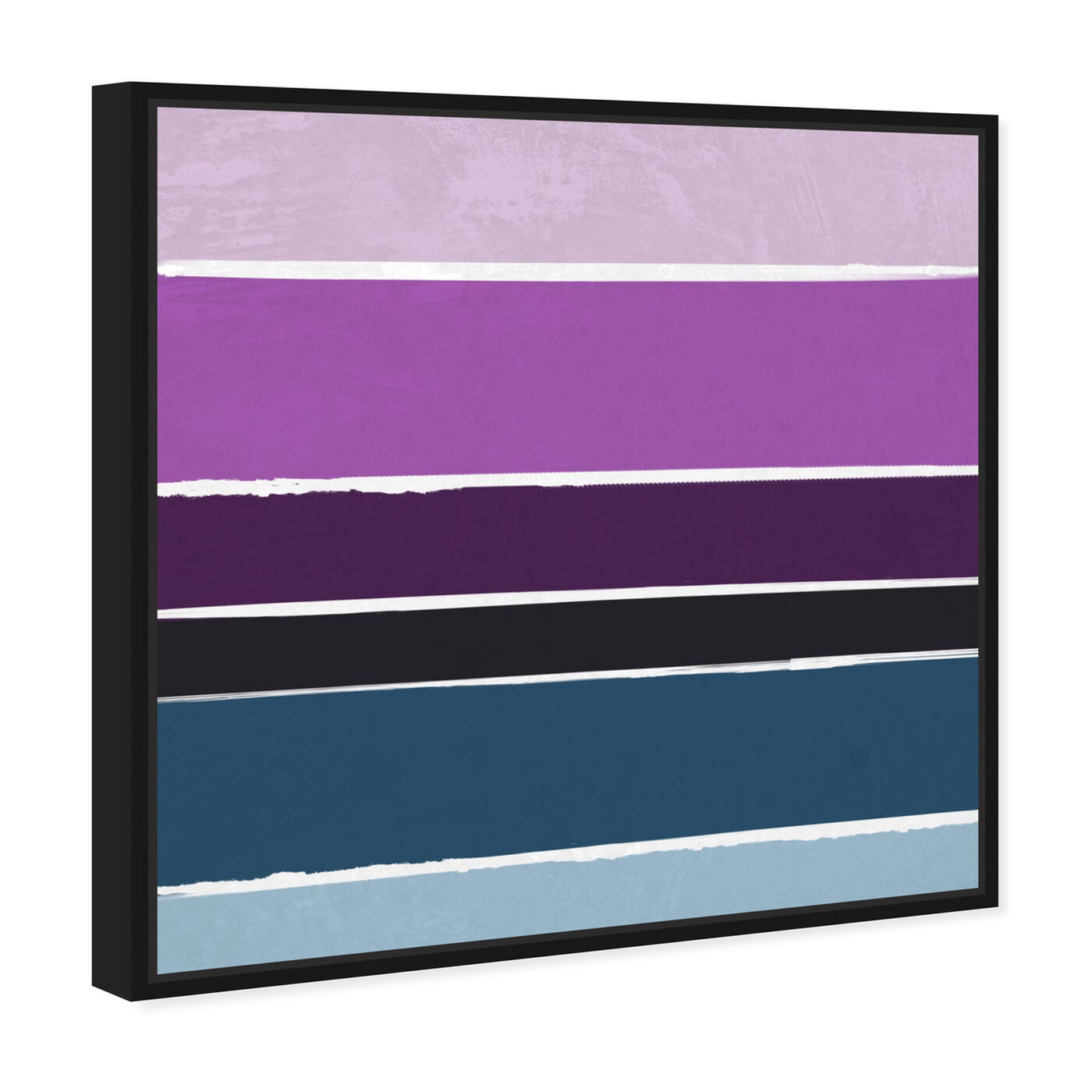 Angled view of Lavender Rain featuring abstract and paint art.