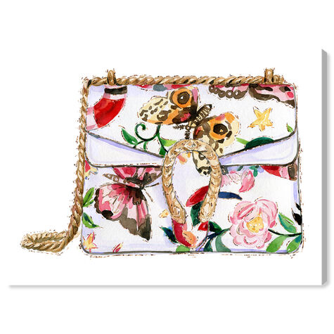 Butterfly Floral Bag