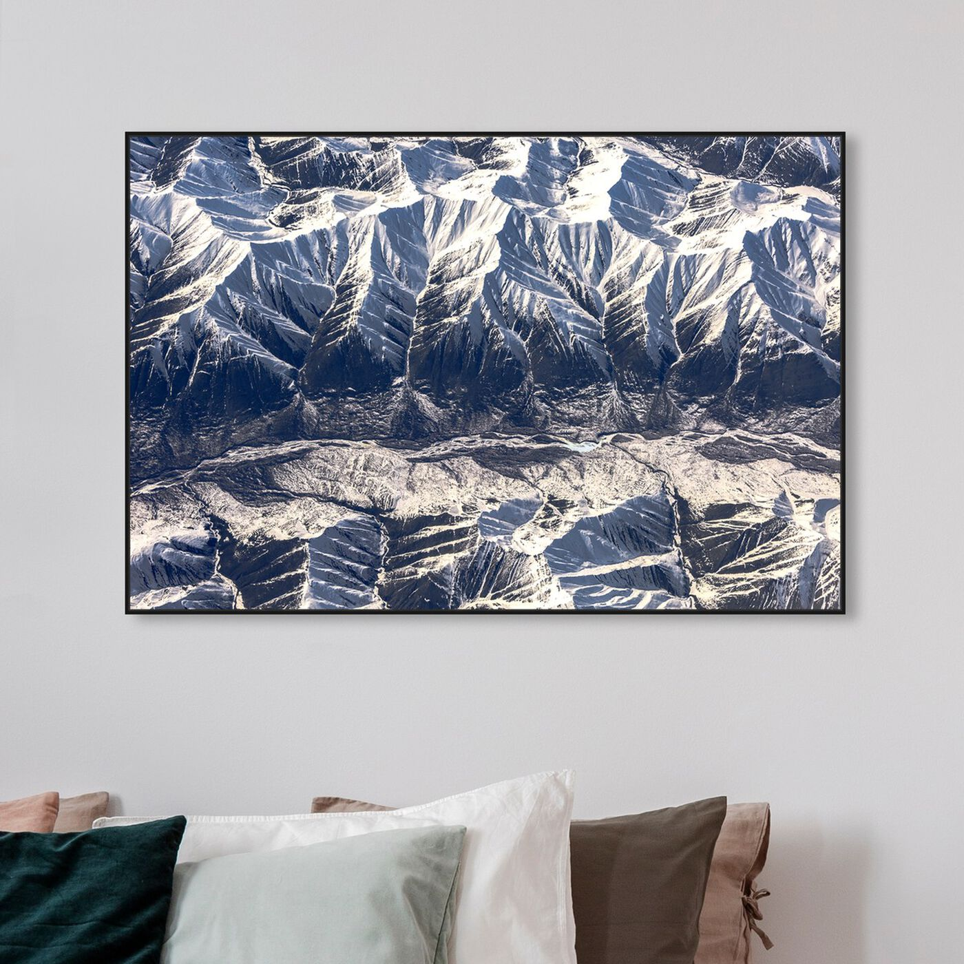 Hanging view of Curro Cardenal - Aero View II featuring nature and landscape and mountains art.