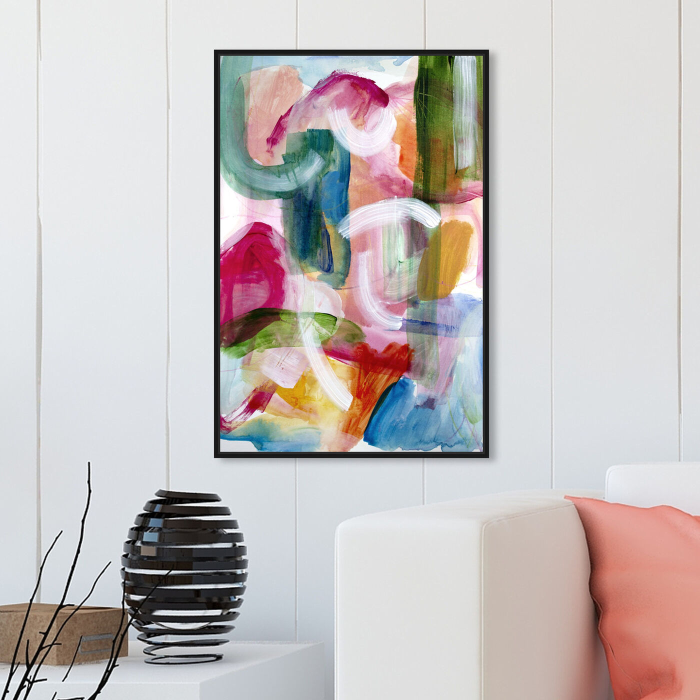 Hanging view of Green Amazonia II featuring abstract and paint art.