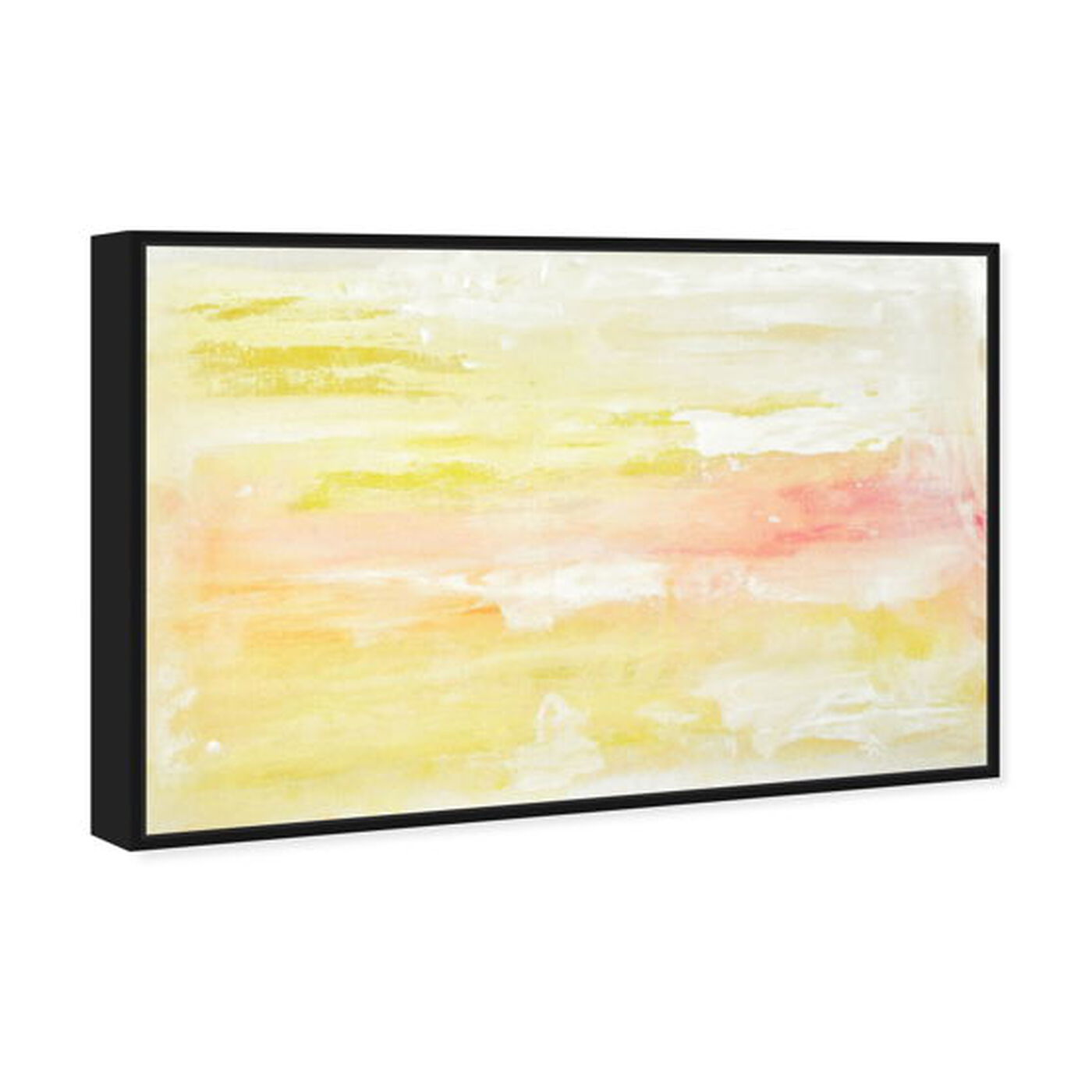 Angled view of Peaceful Sunset featuring abstract and paint art.
